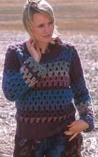 Crocheted Pullover in Eskimo