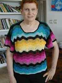 Crocheted Top in 13 Colors