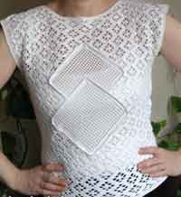 Lace Summer Top w/ Filet Inserts.
