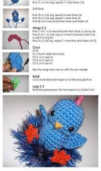 Kawaii Amigurumi Crochet Doll Little Chicken With Gentleman Hat ... | 338x200
