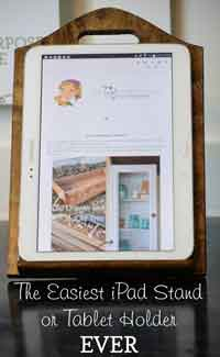 Recycled Kitchen iPad Stand