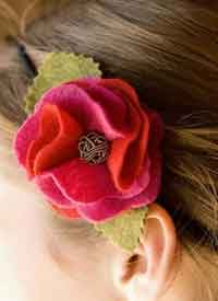Ruffled Rose Headband Tutorial