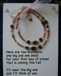 Mommy and Me First Day of School/Kindergarten Bracelet Poem