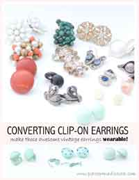 Making Vintage Clip-On Earrings Wearable