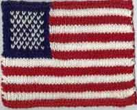 American Flag Knitting Chart