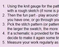 Converting  atterns Between Knit & Crochet