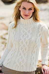 White CableSweater