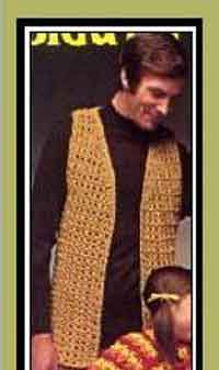Free Crochet Pattern Mens Vest : Over 100 Free Crochet Patterns For Men