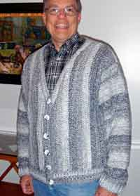 Mens Collage Cardigan