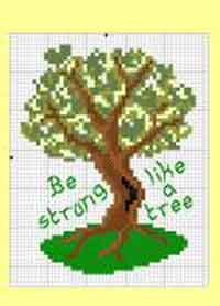 Tree Cross Stitch Chart