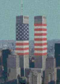 Twin Towers Cross Stitch