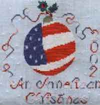 American Christmas Ornament Cross Stitch