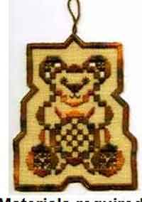 Toasted Teddy Hardanger Hang-Up