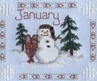 Cross Stitch Calendar - January