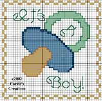 Its a Boy x-stitch Chart