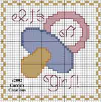 Its a Girl x-stitch Chart