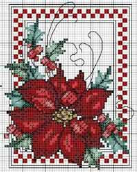 Poinsettia Tea Towels Cross Stitch pdf