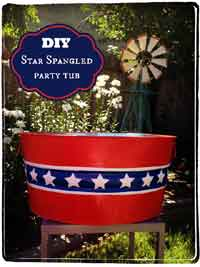 Star Spangled Party Tub