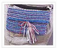 Patriotic Knitted Purse