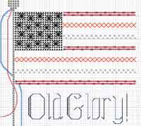 Old Glory Flag Pattern