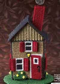 Plastic Canvas House Bank Pattern