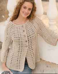 Jacket in Muskat with 3/4 sleeves