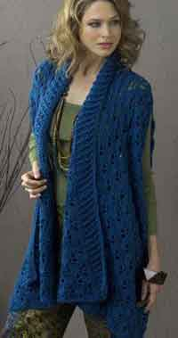 Over 150 free plus size crocheted patterns at allcrafts sherbrook elongated summer jacket dt1010fo