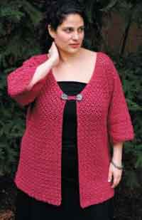 Knitting Patterns For Plus Size Sweaters : Over 150 Free Plus Size Crocheted Patterns at AllCrafts!