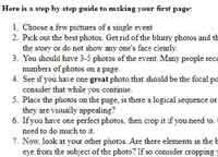 Making your first page