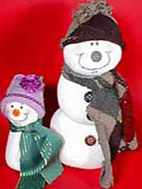 Almost No Sew Sock Snowmen Pattern