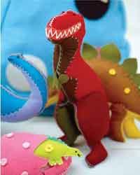 Felt dinosaur with free pattern | Peppa Pig Party | Pinterest