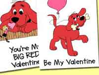 Printable Clifford Valentines