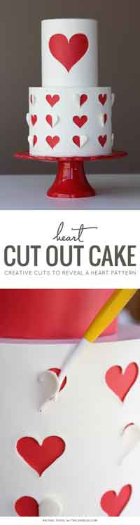 Heart Cut Out Cake Tutorial