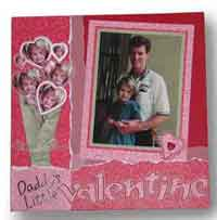 Daddys Little Valentine Scrapbook Page