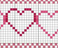Heart Towel Border - cross stitch