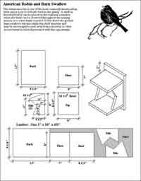 Birdhouse Plans for Robins