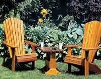 Adirondack Lawn Chair and Table