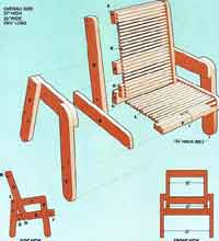 Over 100 free outdoor woodcraft plans at allcrafts cedar patio chair plans solutioingenieria Choice Image
