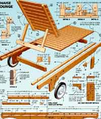 Over 100 free outdoor woodcraft plans at for Adirondack chaise lounge plans