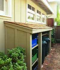Simple DIY recycling center