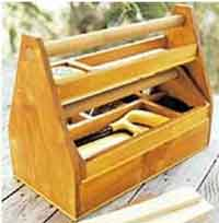 Wooden Tool Cart Toy