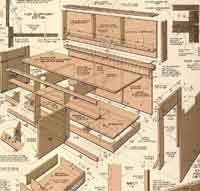 office desk plans. building an office desk over 50 free workbench woodcraft plans at allcrafts p