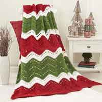 Holiday Ripple Afghan Free Crochet Pattern