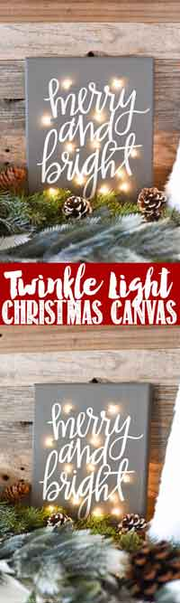 DIY Twinkle Light Canvas