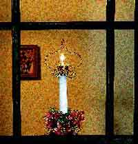 Beaded Christmas Window Candle