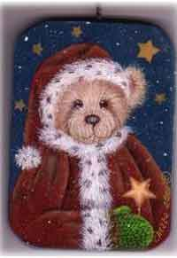 Painted Santa Bear