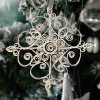 Quilled Snowflake Ornament