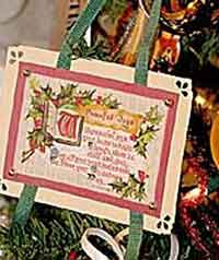 Vintage Postcard Ornaments