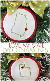 I Love My State Ornament Tutorial