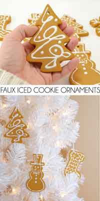DIY Faux Iced Cookie Christmas Ornaments